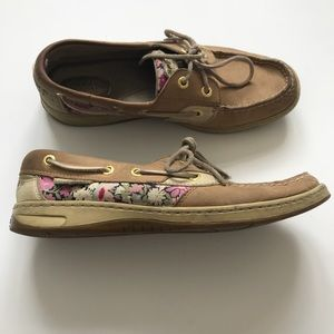 Sperry Top Sider Women's 8 Floral Leather Shoe